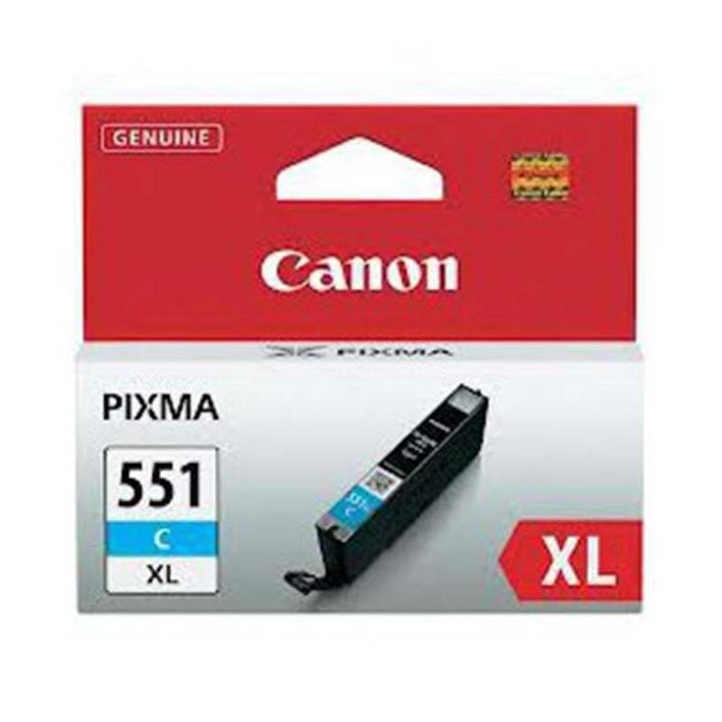 CARTUCHO CANON INYECCION TINTA CLI-551C XL CIAN