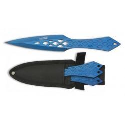 Cuchillo Albainox Set 3 Lanzadores Rain Blue 32219
