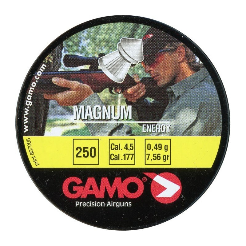 Gamo Magnum Cal. 4.5 Lata Metal 250 unidades