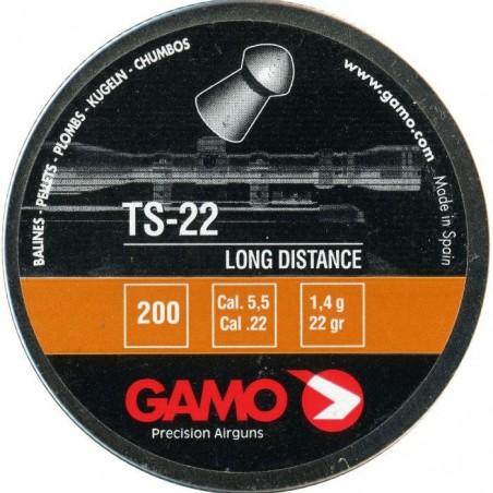Balines Gamo TS22 Cal. 5.5 (200 ud) Lata Metal