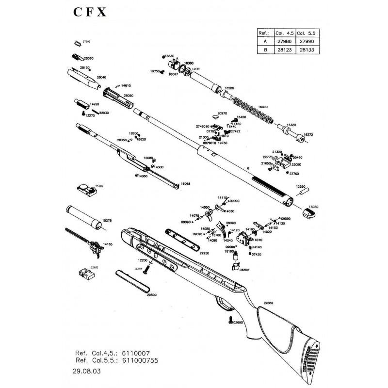 Gamo CFX 2003 Despiece