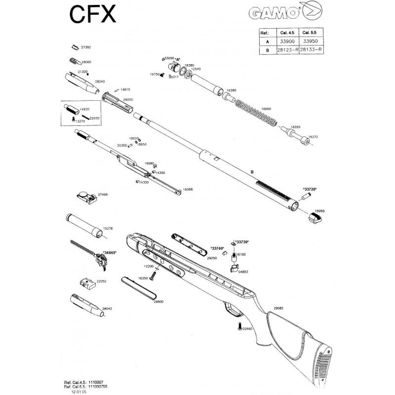 1 Gamo CFX 2005 Despiece