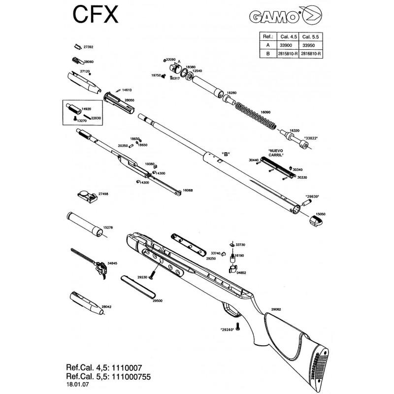 1 Gamo CFX 2007 Despiece