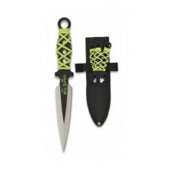 Cuchillos lanzadores set 3 Encordado 16.5 cm