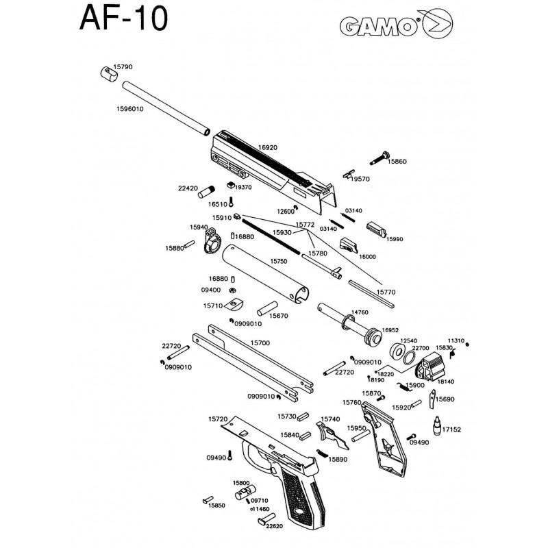 1 Gamo AF-10 Despiece