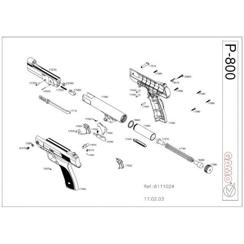 1 Gamo P-800 Despiece