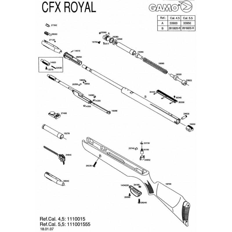 1 Gamo CFX Royal 2007 Despiece