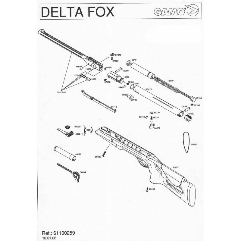 1 Gamo Delta Fox Despiece