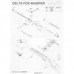 1 Gamo Delta Fox Whisper Despiece