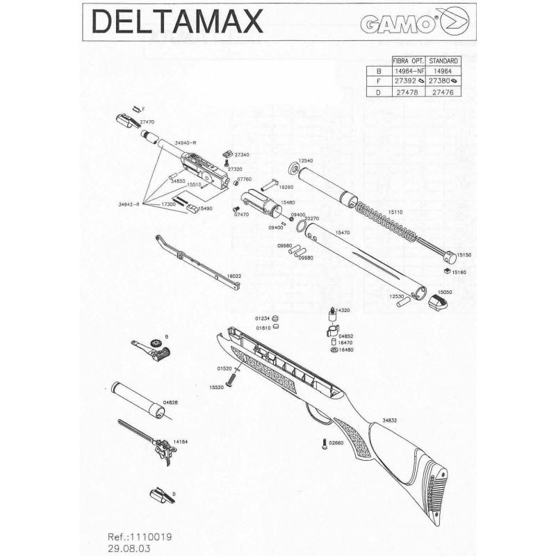 1 Gamo Delta Max 2003 Despiece