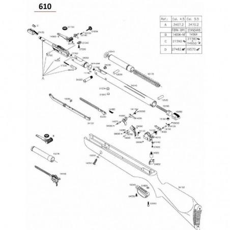 1 Gamo 610 Despiece