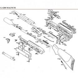 1 Gamo G-1200 Despiece