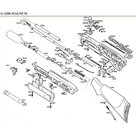 1 Gamo G-1200 Magnum Despiece