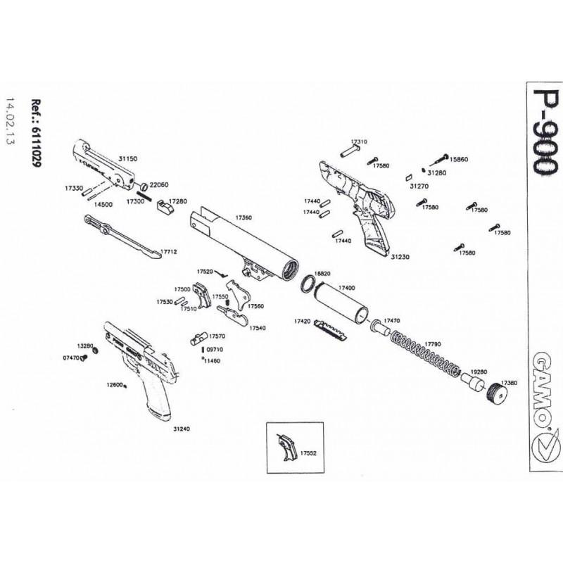 1 Gamo P-900 Despiece