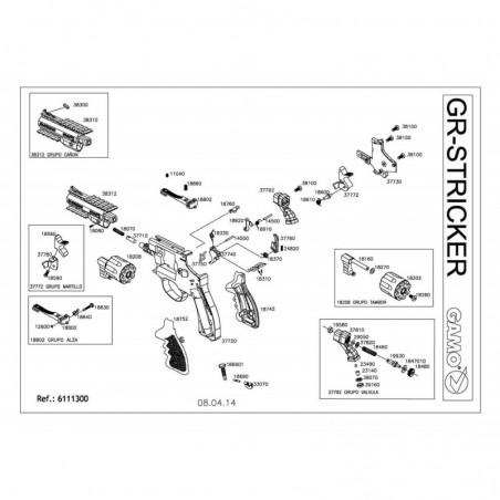 1 Gamo GR Stricker Despiece