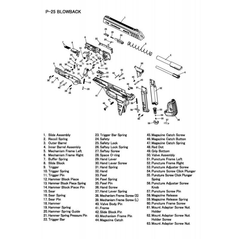 1 Gamo PT-25 Despiece