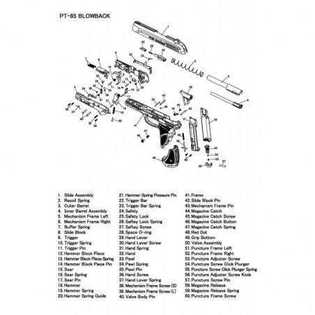 1 Gamo PT-85 Despiece