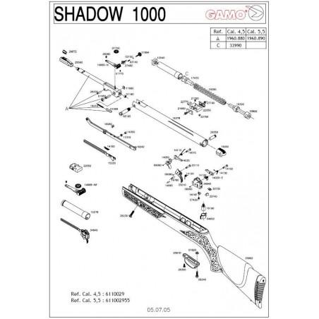 1 Gamo Shadow 1000 V2005 Despiece