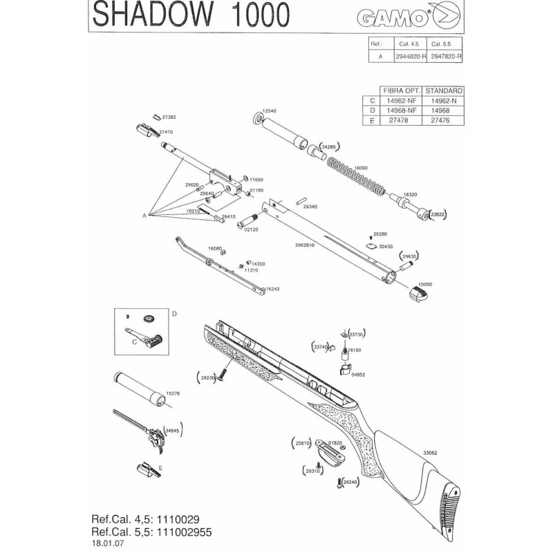 1  Gamo Shadow 1000 V2007 Despiece