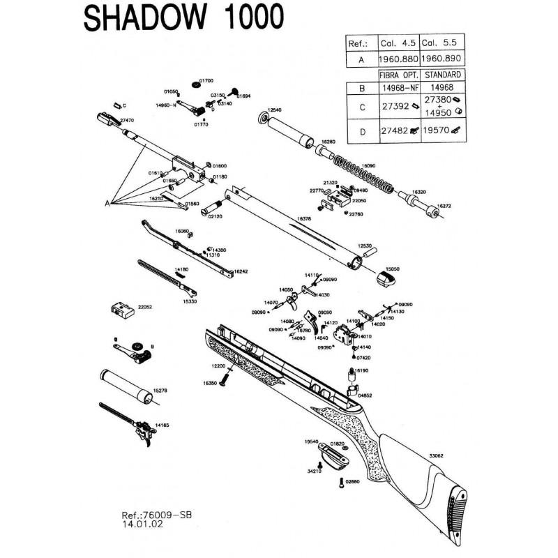 1  Gamo Shadow 1000 V2002 Despiece