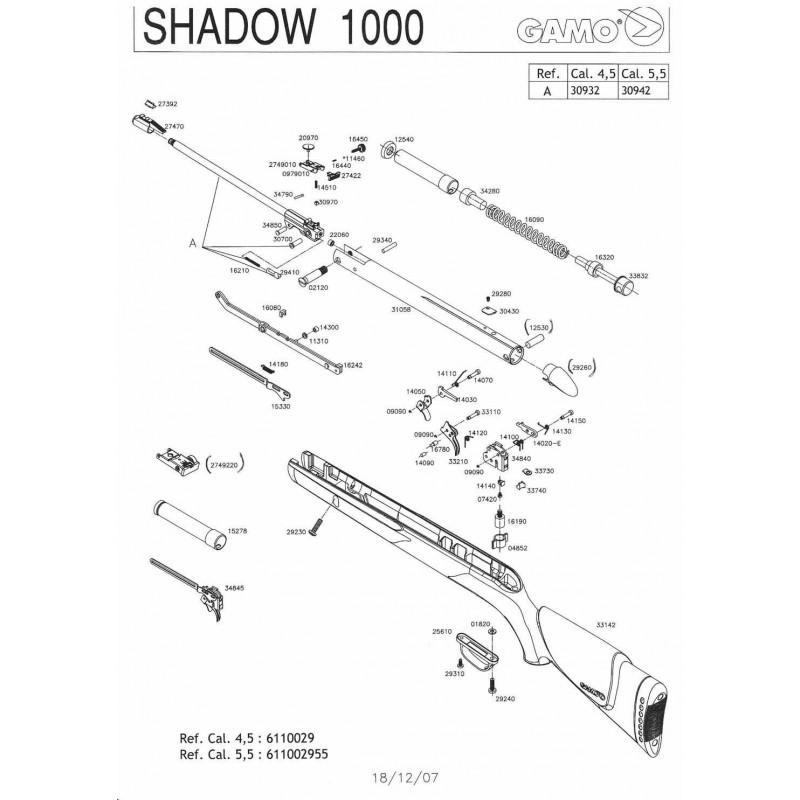 1  Gamo Shadow 1000 V2008 Despiece