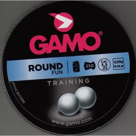 Balines Gamo Round Fun Bolas Cal. 5.5 Lata Metal 250 unidades