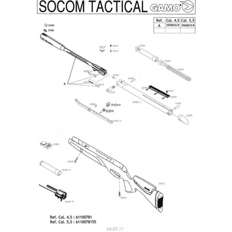 1 Gamo Socom Tactical Despiece