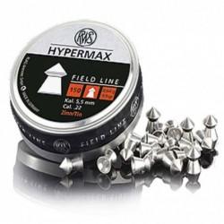 Balines RWS Hypermax 5,5 mm Lata 150 uds.