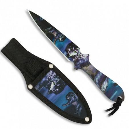 Cuchillos lanzadores 3D lobo Albainox 17 cm