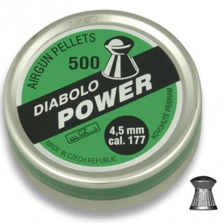 Balines DIABOLO POWER Cal. 4.5 500 unidades