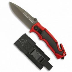 Navaja K25 Rojo y negro hoja 8.8 cm