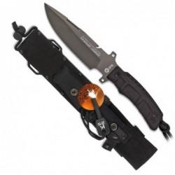 Cuchillo K25 con titanio y pedernal hoja 16 cm