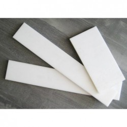 Placa Polipropileno blanco 390X60X10mm