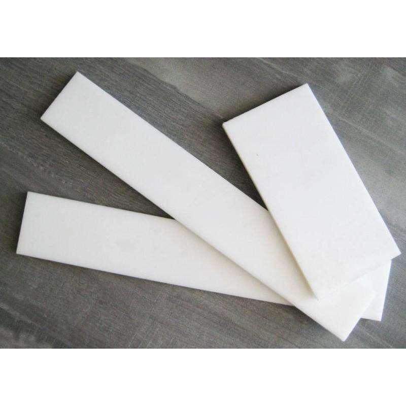Placa Polipropileno blanco  390X60X10mm