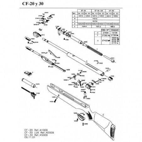 1 Gamo CF-20 Despiece