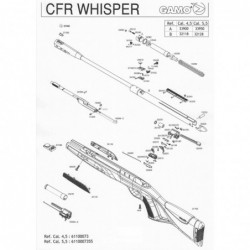 1 Gamo CFR Whisper Despiece