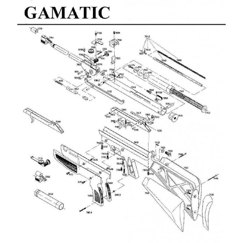 1 Gamo Gamatic Despiece