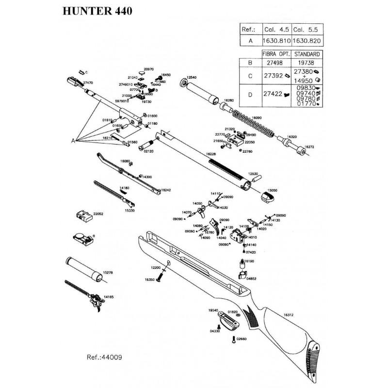 1 Gamo Hunter 440 Despiece