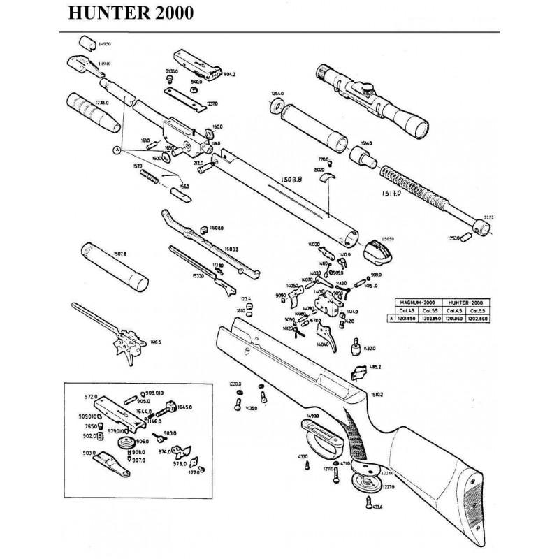 1 Gamo Hunter 2000 Despiece