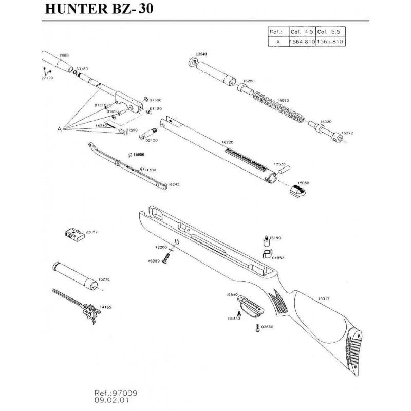 1 Gamo Hunter BZ-30 Despiece