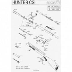 1 Gamo Hunter CSI Despiece