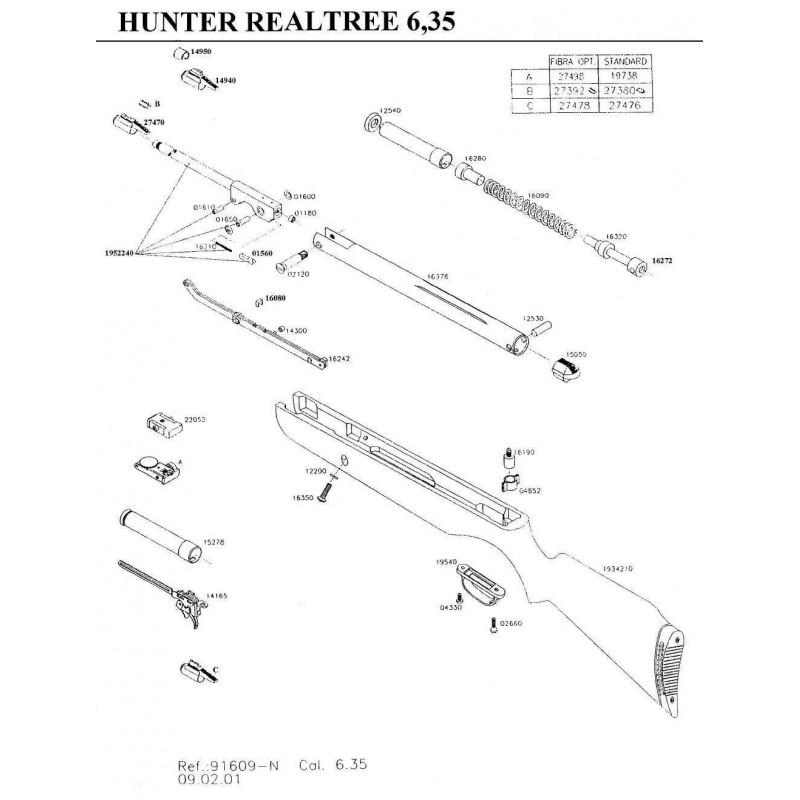 1 Gamo Hunter Realtree Despiece