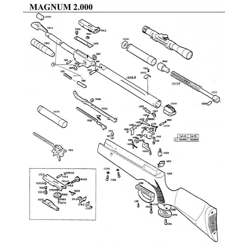 1 Gamo Magnum 2000 Despiece