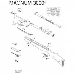 1 Gamo Magnum 3000 V1 Despiece