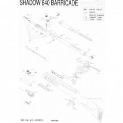 1 Gamo Shadow 640 Barricade Despiece