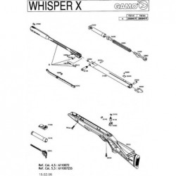1 Gamo Whisper X Despiece