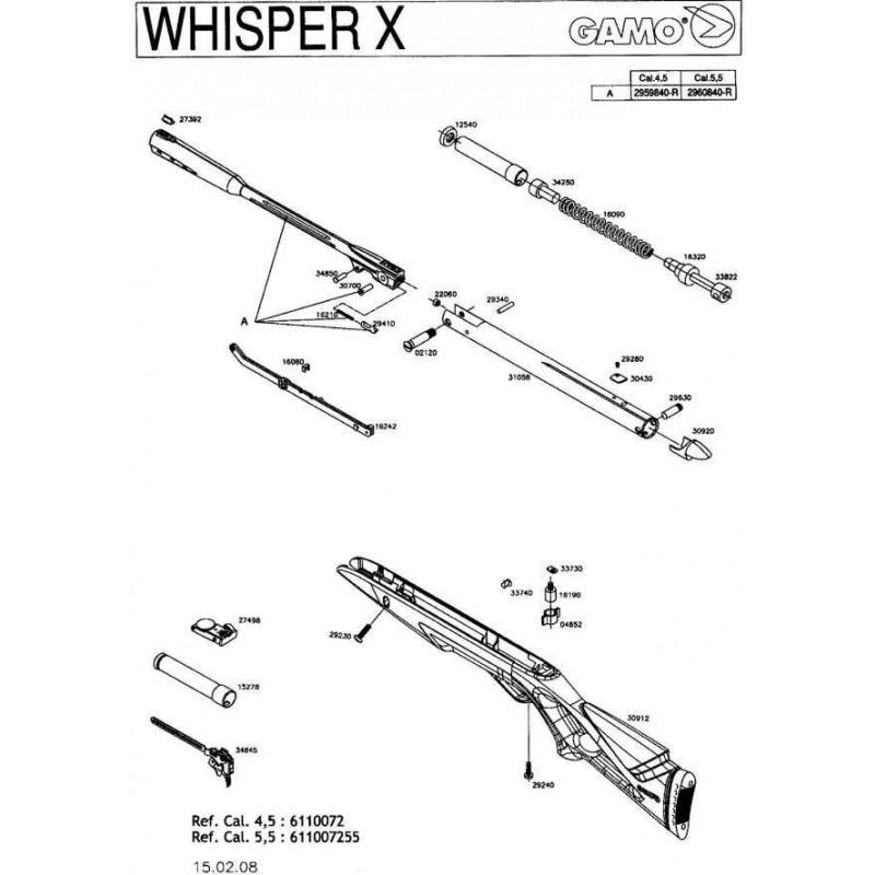 1 Gamo Whisper X Despiece