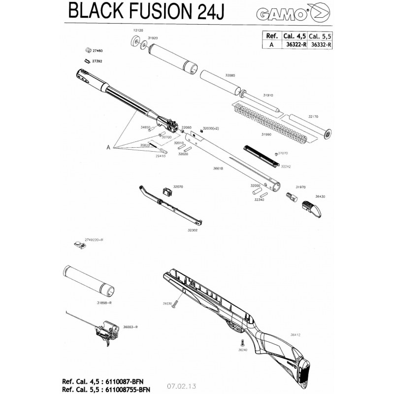 1 Gamo Black Fusion Despiece