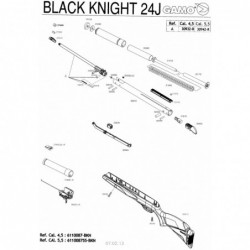 1 Gamo Black Knight Despiece
