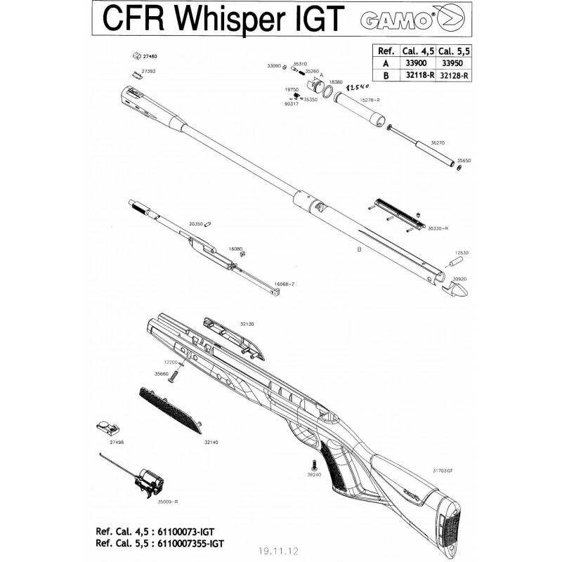 1 Gamo CFR Whisper IGT Despiece